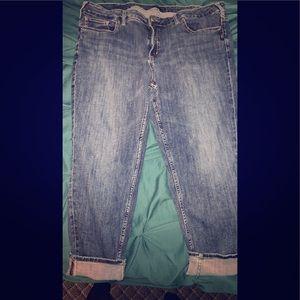 Plus size Silver crop jeans